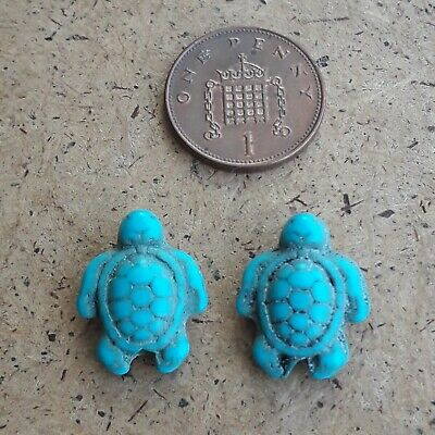 2 Turquoise Turtle  / Tortoise  Charms