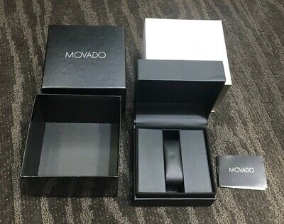 New Movado Square Watch Gift Box, Outer Box, And Booklet