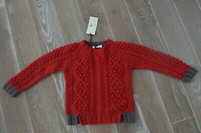 Stella McCartney boys girls cable knit red sweater 6T