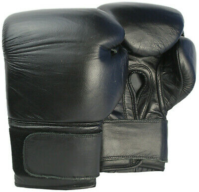 Boxing Gloves MMA Muay Thai Training Punch Bag 16oz Leather Kick Sparring Mitts