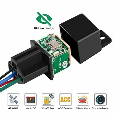 Car Vehicle Tracker Relay GPS Cut Off Fuel Real Time Google Map Speed Alarm APP