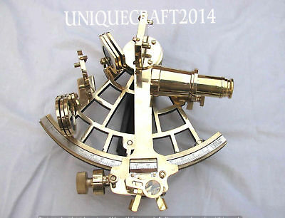 Nautical 9 Inches Solid Brass Heavy Sextant-Marine Ship Navigational Instrument