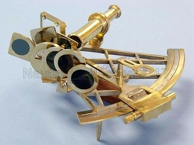 Maritime Hand-Made Heavy Nautical Admirals Solid Brass Sextant - Gift Item