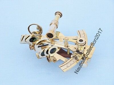 Nautical Solid Brass Marine Sextant - Vintage Sextant