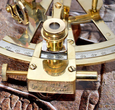 "Marine Astrolabe Model 5"" Brass Sextant - Nautical Ship Instrument Sextant"