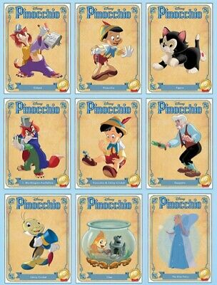 Pinocchio-Character 9 Card Set-Anniversary-Disney Collect Card Trader