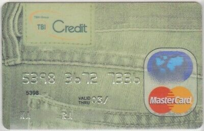 c. EXPIRED BANKCARD TBI CREDIT BANK ROMANIA