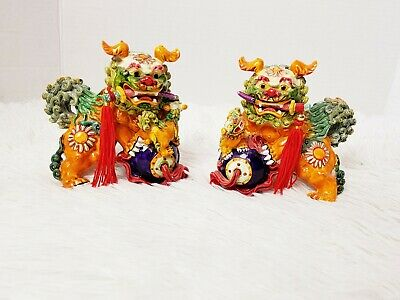 Chinese Fu Foo Dog/ Lions Colorful Paper Weights