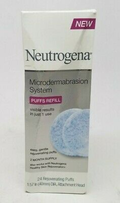 Neutrogena Microdermabrasion Refills 24 Count System Puff BOX DAMAGED