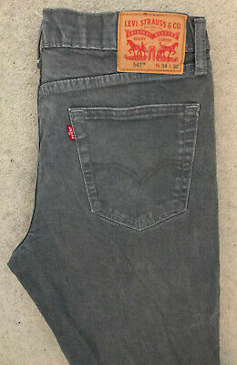 Levis 541 Athletic Fit Denim Jeans! Mens W34/L32! Dark Grey Slim Fit! #4