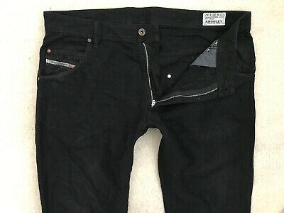 Diesel Krooley Denim Jeans! Mens W33/L32 Black! Slim Carrot Fit! Skinny