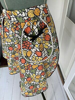 Vintage 1950s Apron St Michaels Marks And Spencer, Circular Skirt, New Unworn
