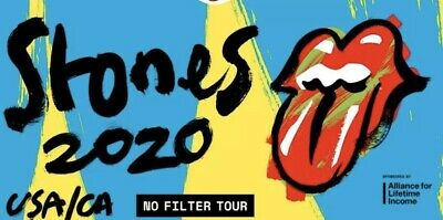 2 Tickets The Rolling Stones 5/29/20 SEC 108, ROW 7! Cotton Bowl, Dallas, TX