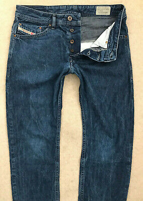 Diesel Braddom Denim Jeans! Mens W31/L32 Dark Blue! Slim Carrot Fit! #7