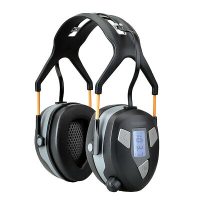 FM Radio Ear Defenders Built-in FM radio with LCD display for viewing Frequency