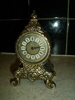 Vintage Splendex West Germany Rococo Style Wind Up Mantel Clock