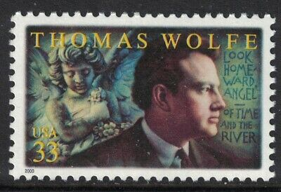 Scott 3444- Thomas Wolfe, Writer- MNH 33c 2000- unused mint stamp