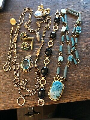 Antique vintage Group Lot Collection Of Jewelry Estate Find Pictured Old Stuff