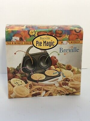 New Breville Pie Magic Pie Maker Original Box Accessories Instructions