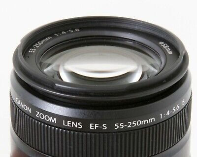 Canon EF-S 55-250mm F/4-5.6 Telephoto IS Zoom Lens, Clean, Expedited Shipping US