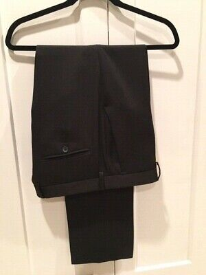 Kenneth Cole Reaction Mens Black Pant 33 x 31