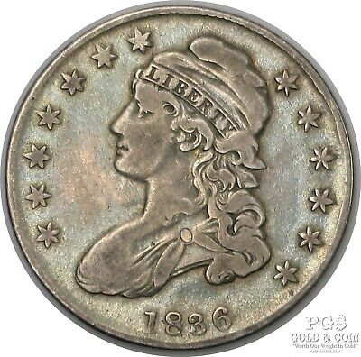 1836 Capped Bust Half Dollar .50c Lettered Edge Circulated US Silver Coin 17094