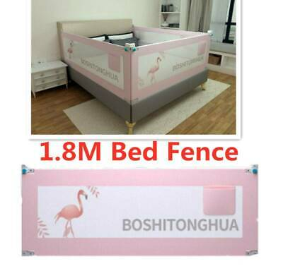 1.8M Universal Baby Bed Rail Safety Guardrail Use Bed Fence Pink