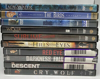 HORROR THRILLER 10 DVD Lot Lightly Used The Ring, Cry Wolf, Darkness Falls -d1