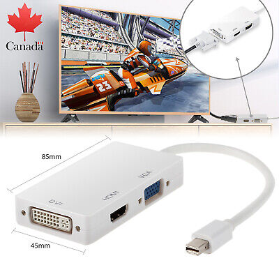 Mini Display port-DP to VGA HDMI DVI converter adapter cable for Mac Book CA NEW