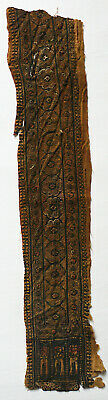 Ancient Coptic Textile Fragment -Long, Rope/Person Pattern, Egypt,Christian Arts