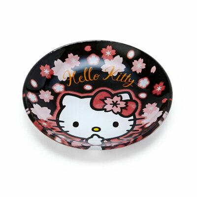 Hello Kitty Porcelain Plate Face L Sakura Sanrio Japan