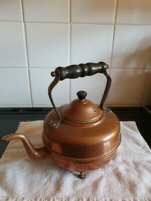 Vintage Arts And Crafts copper Footed Kettle