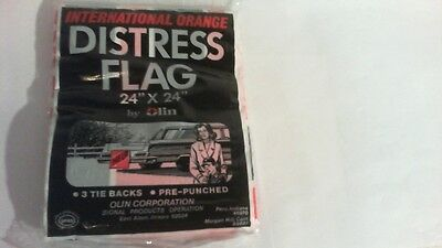 Vintage ( RARE ) Made By OLIN Corp. Roadside Emergency Distress Flag