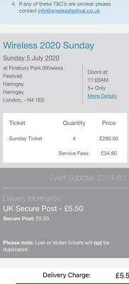 Wireless Festival 2020 - Sunday Day Ticket.