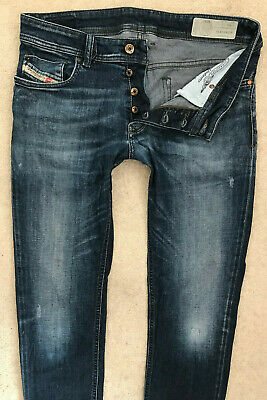 Diesel Sleenker Denim Jeans! Mens W32/L32 Dark Blue Slim - Skinny Stretch Fit #3