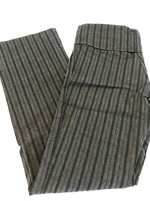 Pea in a Pod Maternity Size 8 Black/Grey pin striped pant Pre Loved EUC