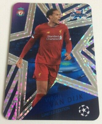 TOPPS CHAMPIONS LEAGUE CRYSTAL CARDS 2019/20 - Limited Edition - VAN DIJK - LE3