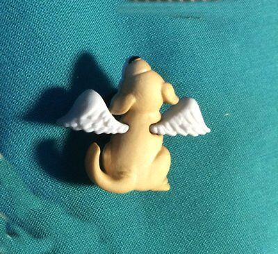 Cute DOG Angels Beloved Pet with WINGS Rainbow Bridge Clog Holey Shoe Charm
