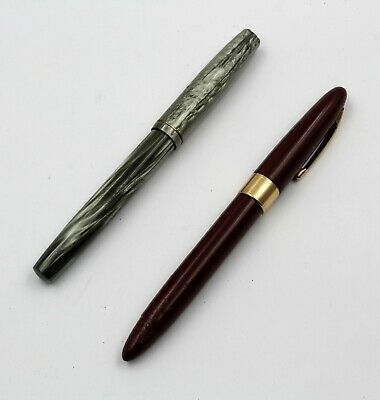 2 Vintage Shaeffer And Waterman Fountain Pens Fantastic No Reserve #7773-3