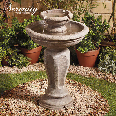 Serenity Tree Trunk Cascade Water Feature LED 45cm Wood Effect Garden Fountain