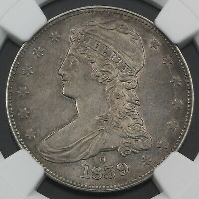 Rare United States 1839-O Capped Bust Half Dollar Coin Ngc Graded Au 53 Nr #7785