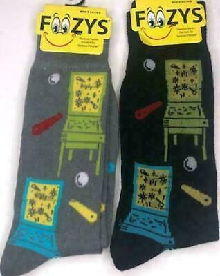 THE WIZARD OF OZ YELLOW BRICK ROAD SUBLIMATED ALL OVER PRINT MENS CREW SOCKS NWT