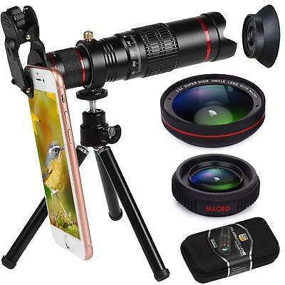 22X Zoom Telephoto Phone Camera Lens + 0.5X Wide Angle Macro Lens for iPhone XS
