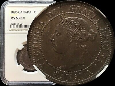 NGC MS63 - 1896 Canada Cent