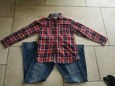 Boys Next signature jeans age 8 immaculate And Next checked Shirt Age 8-9.