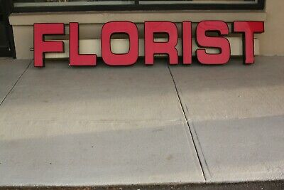 FLORAL FLORIST FLOWERS 8 FOOT EXTERIOR Lighted Business Sign, Dawn to dusk,