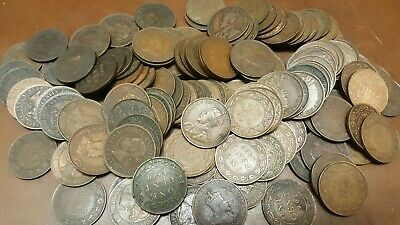 Lot Of 150 Total Old Canada Large Cents****