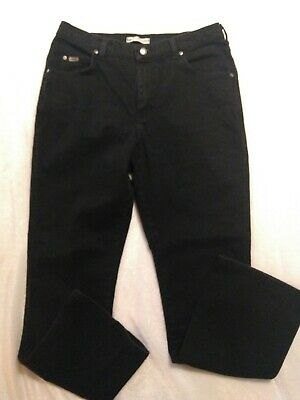 Lee Women's Relaxed Bootcut Black At The Waist High Rise Denim Jeans Size 12M