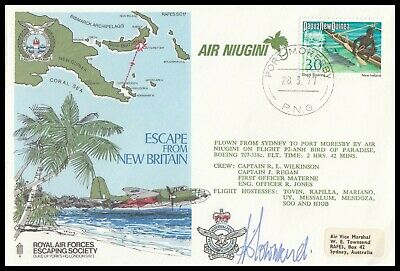Evader AVM BILL TOWNSEND Signed RAFES SC17d Escape from New Britain RAF Cover
