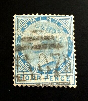 British Dominica 🇩🇲 1879 - used stamp Four Pence Queen Victoria
